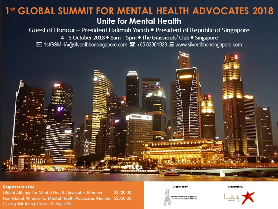 Silver Ribbon (Singapore) - Advocacy - 1st Global Summit for