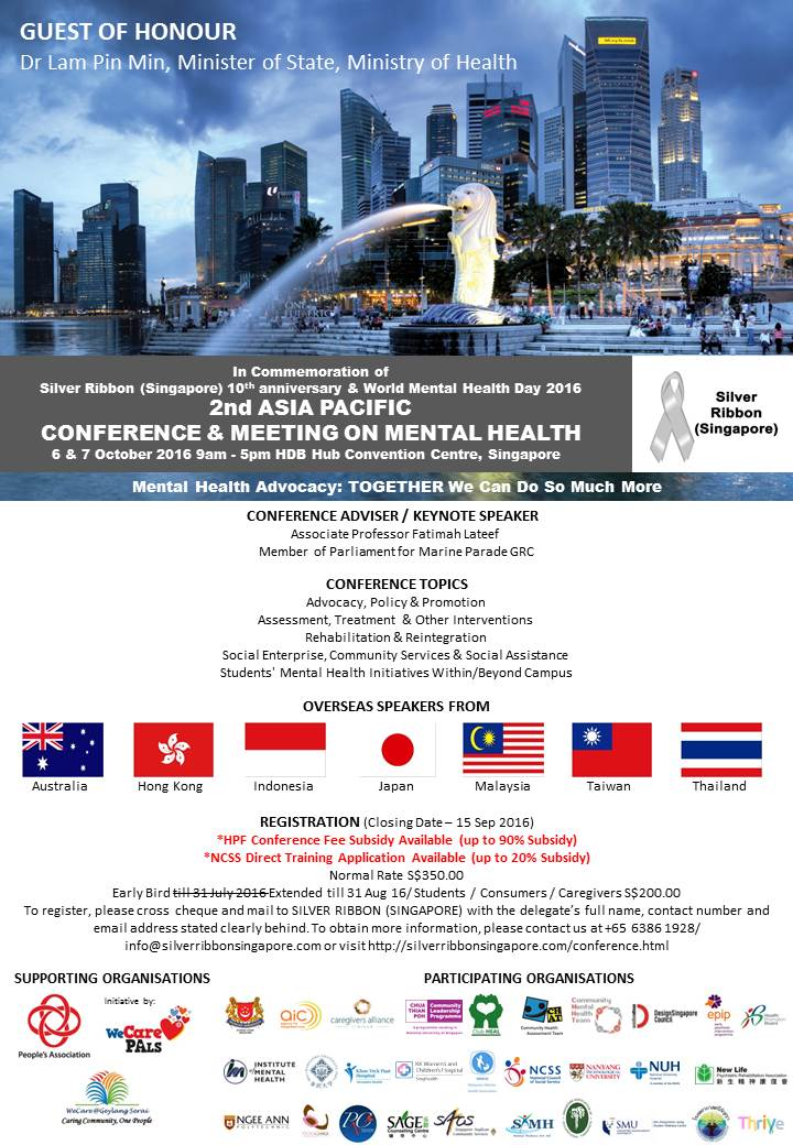 Silver Ribbon Singapore Advocacy World Mental Health Day